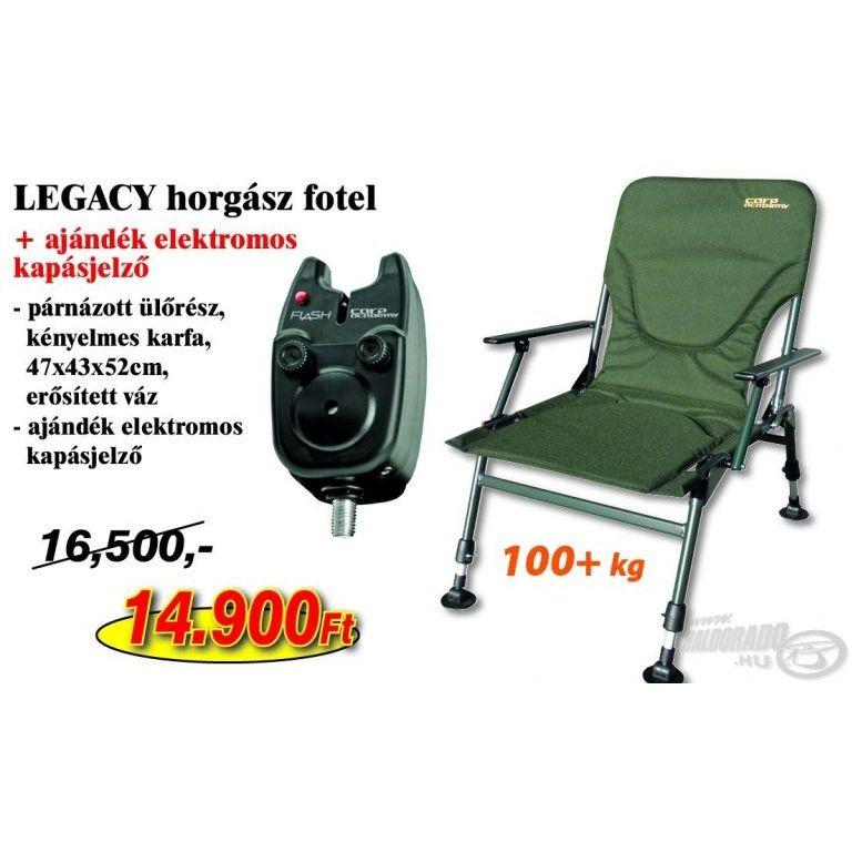CARP ACADEMY Legacy Fotel + Ajándék elektromos kapásjelző