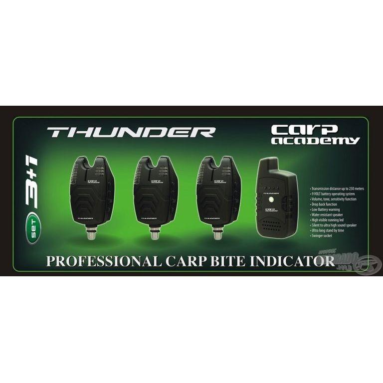 CARP ACADEMY Thunder elektromos kapásjelző szett 3+1 darabos