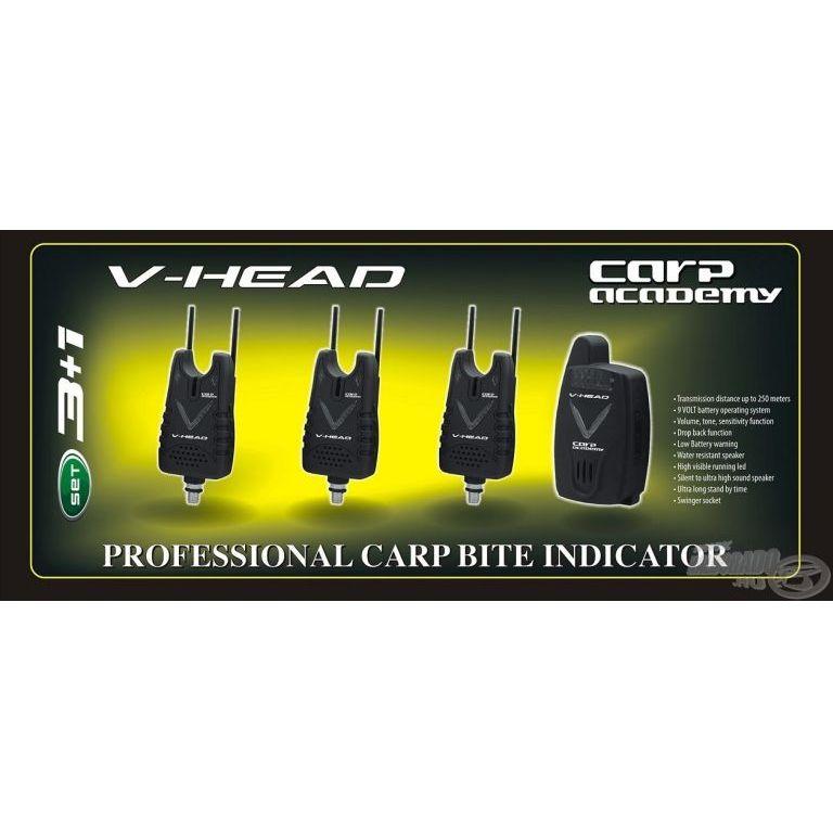 CARP ACADEMY V-Head elektromos kapásjelző szett 3+1 darabos