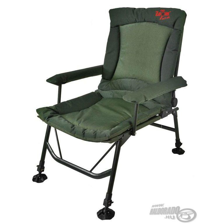 CARP ZOOM Pontyozó karfás fotel extra
