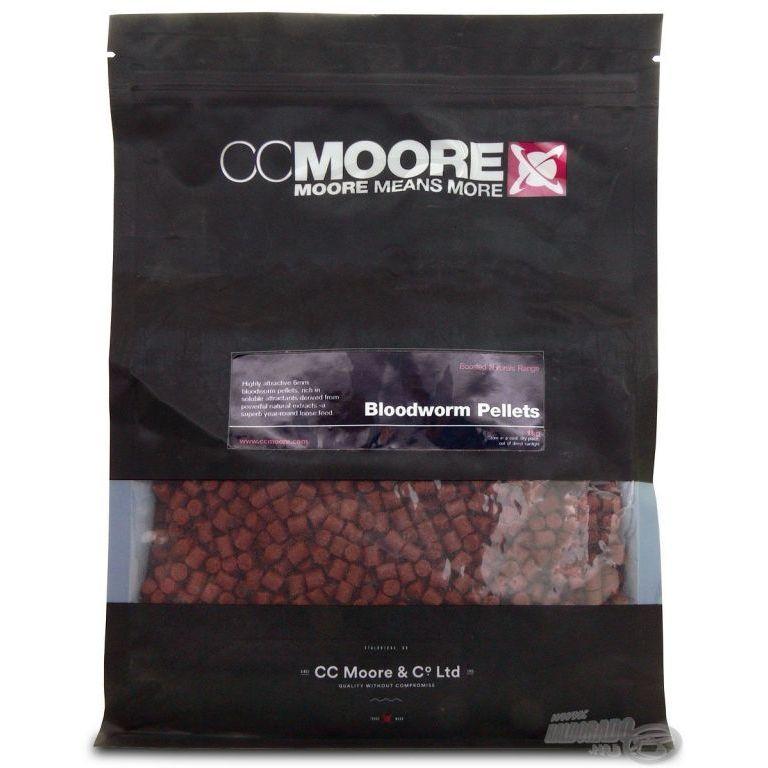 CCMoore Bloodworm Pellet 6 mm 1 kg - Szúnyoglárvás pellet