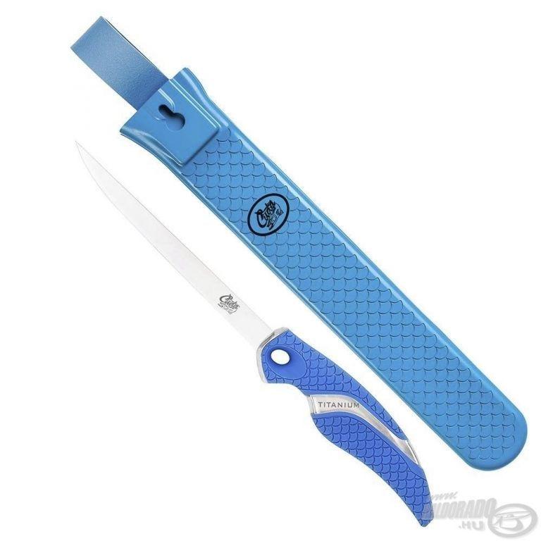 CUDA Titanium 6 Flex Filéző kés tokkal