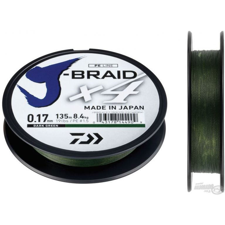DAIWA J-Braid X4E 0,19 mm 135 m