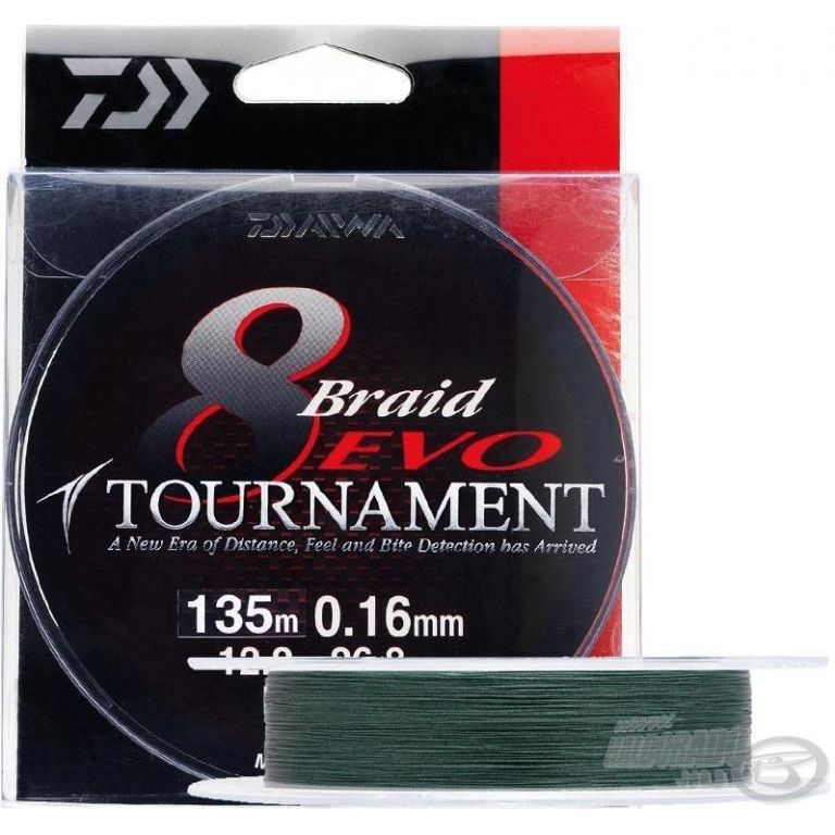 DAIWA Torunament 8 Braid EVO 0,14 mm 135 m