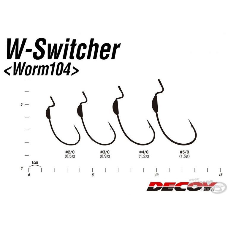 DECOY Worm 104 W Switcher 2/0 - 0,5 g