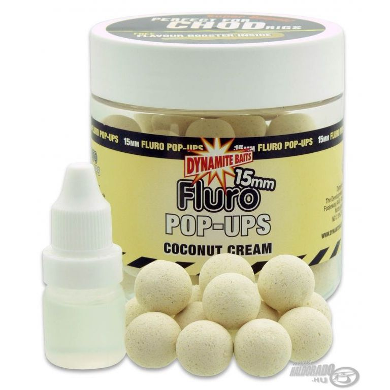 Dynamite Baits Fluro Pop Up bojli Coconut Cream 20 mm