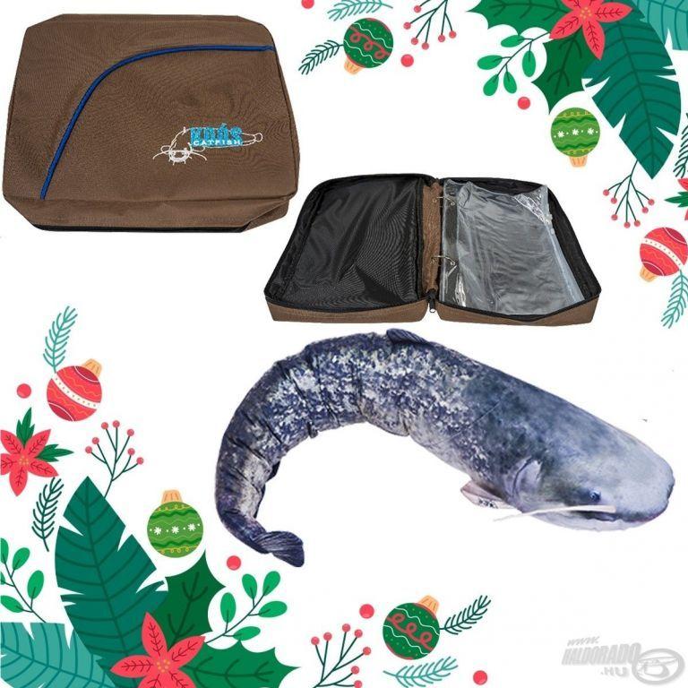 ENERGOTEAM Karácsonyi Koós Előketartó táska szett + Ajándék harcsa baby párna