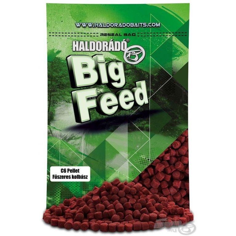 HALDORÁDÓ Big Feed - C6 Pellet - Fűszeres Kolbász 800 g