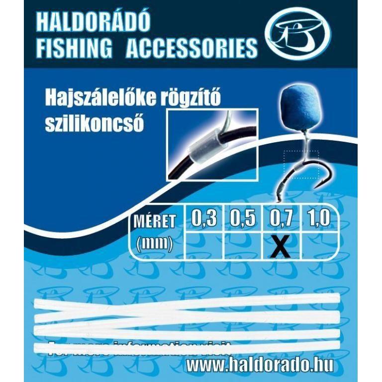 HALDORÁDÓ Hajszálelőke rögzítő szilikoncső 0,7 mm