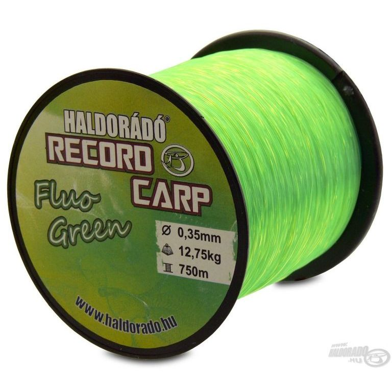 HALDORÁDÓ Record Carp Fluo Green 0,30 mm / 800 m