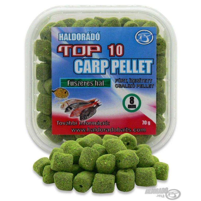 HALDORÁDÓ TOP 10 Carp Pellet - Fűszeres Hal