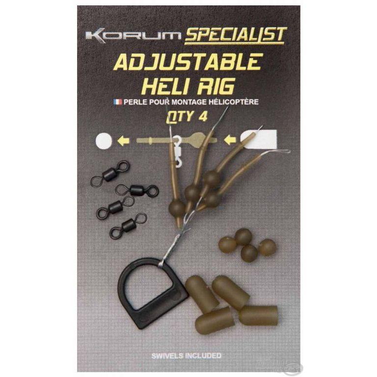 KORUM Komplett végszerelék - Adjustable Heli Rig XL