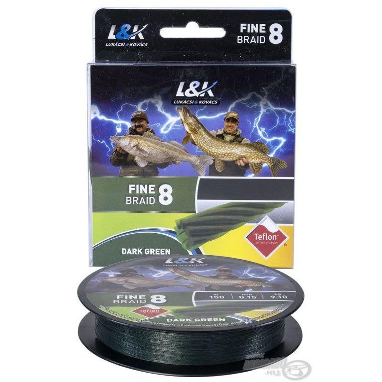 L&K Fine Braid 8 Dark Green - 0,12 mm