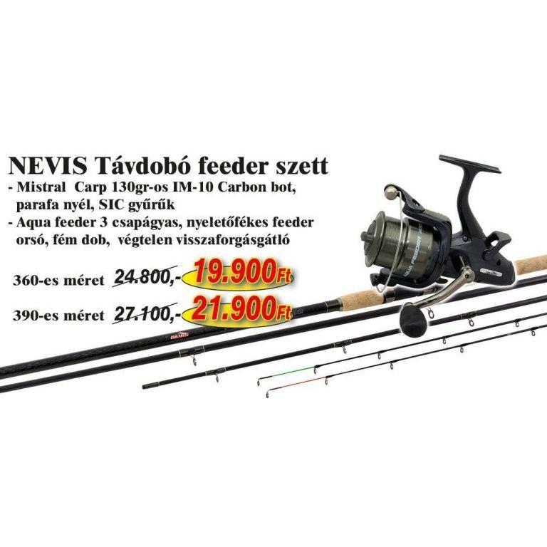 NEVIS Távdobó Feeder szett 3,9 méteres bottal (KB-450)