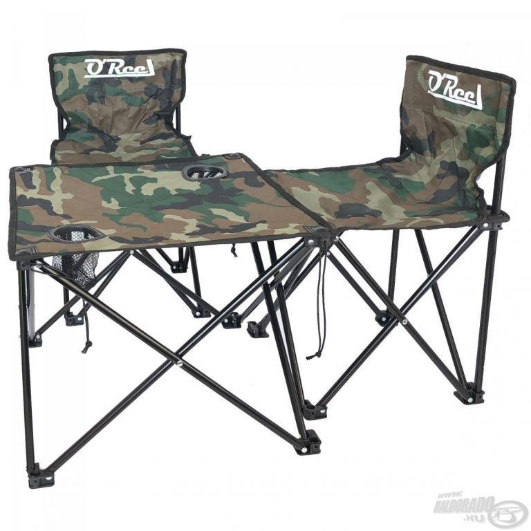 OREEL 2db Horgász szék + Asztal Szett