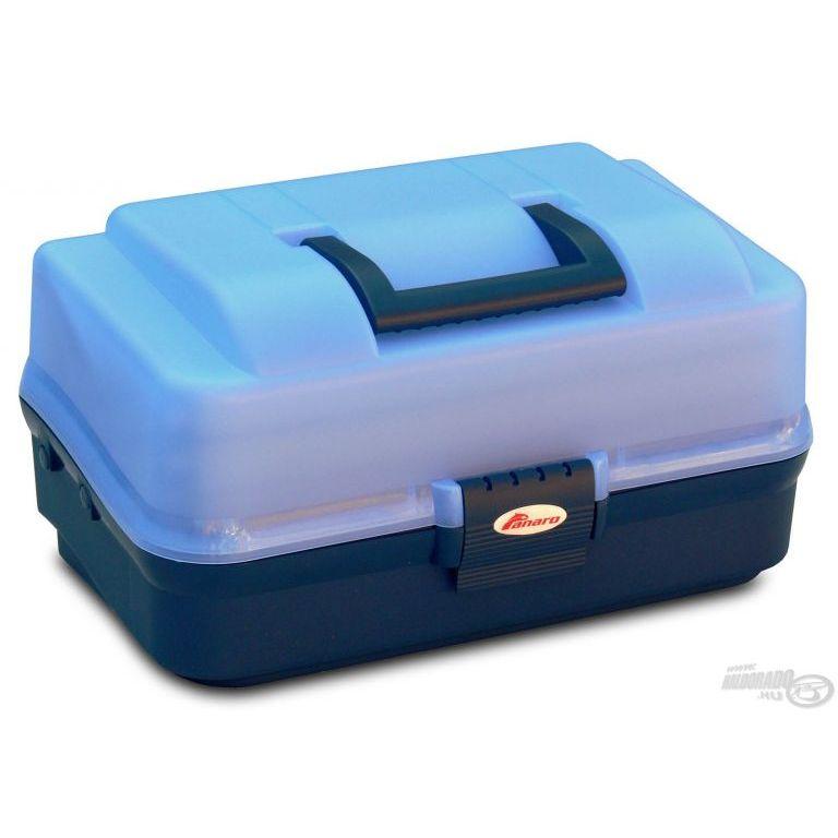 PANARO Szerelékes doboz 2 tálcás - kék