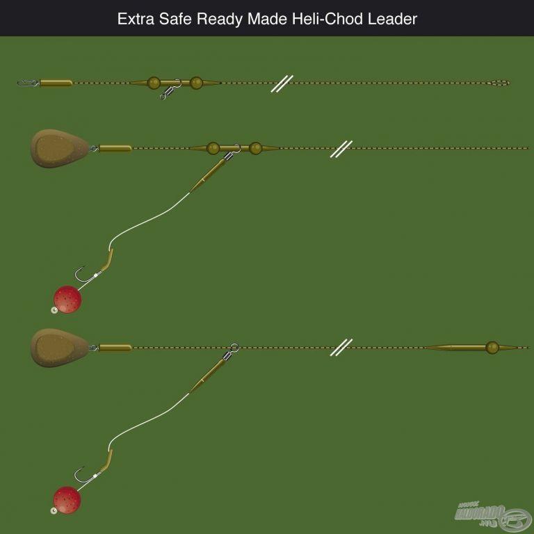 PB PRODUCTS Komplett végszerelék - Heli-Chod Leader 90 cm Weed