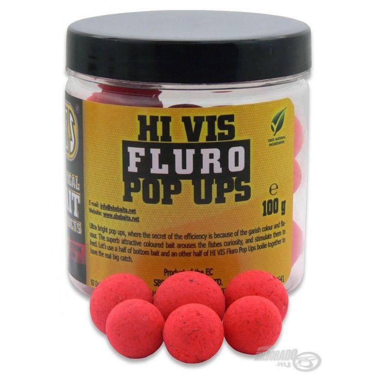 SBS Hi Vis Fluro Pop Up bojli Strawberry 10-14 mm