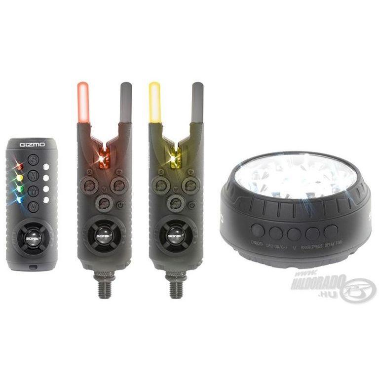 SONIK Gizmo Elektromos kapásjelző szett 2+1 darabos + sátorlámpa
