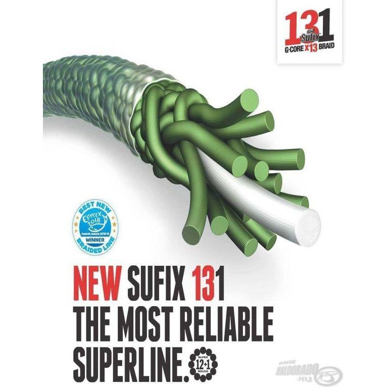 SUFIX 131 G-Core X13 Braid Green 150 m - 0,128 mm