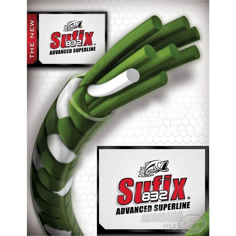 SUFIX 832 Braided zöld 120 m 0,18 mm