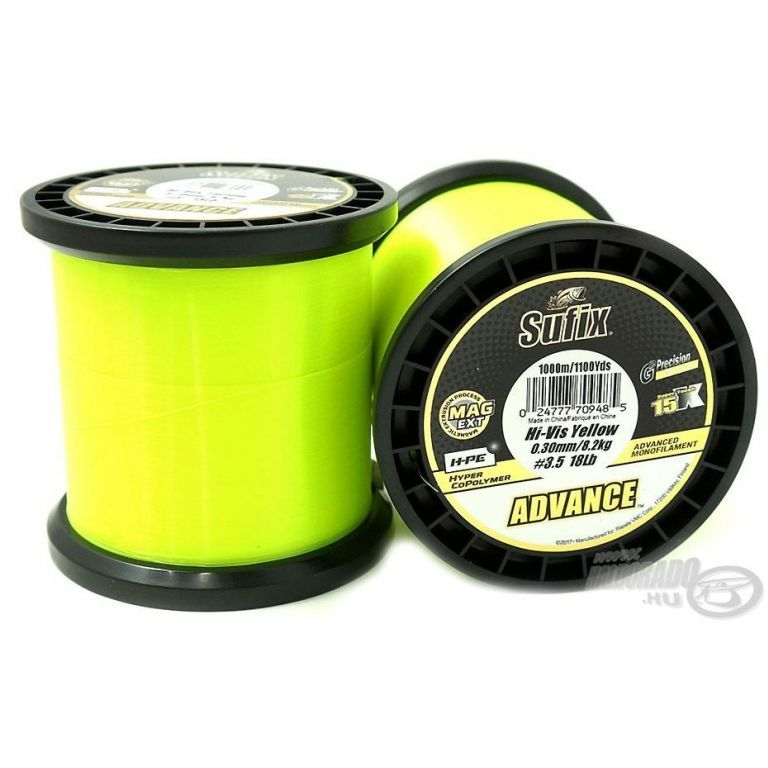 SUFIX Advance Hi Vis Yellow 1000 m 0,30 mm