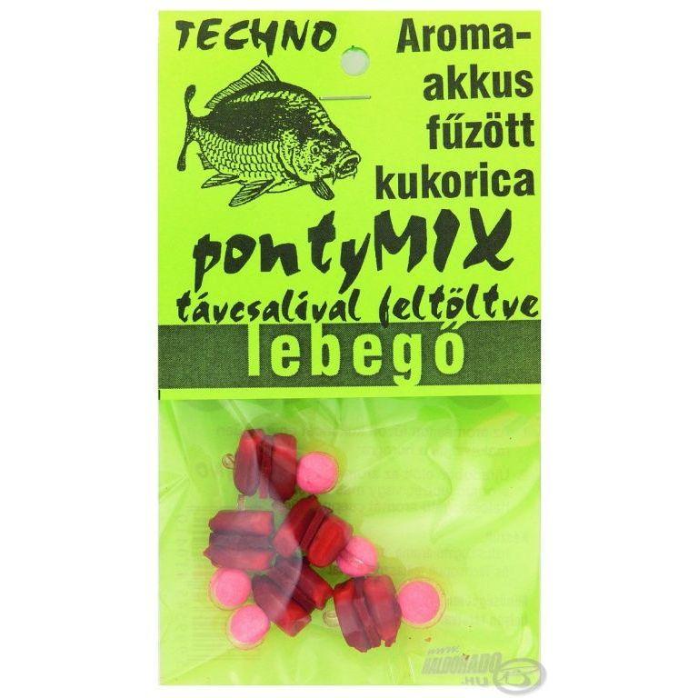 TECHNO Aroma akkus fűzött kukorica lebegő - Ponty Mix